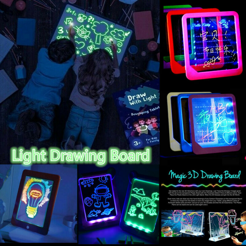 LED Writing Board Light Up Drawing Writing Board Tablet Tabl