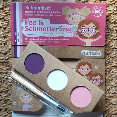 Namaki Cosmetics FEE & SCHMETTERLING Set Kinderschminke Karnevalsschminke Natur