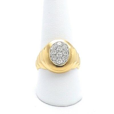 Mens Invisible Set - 18k Gold .80ctw Pavè Invisible Set Diamond Mens Unisex Ring Sz 10 Nice Quality!