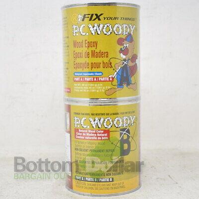 Pc Woody Waterproof 2-part Wood Filler Epoxy Paste 48 Oz Tan