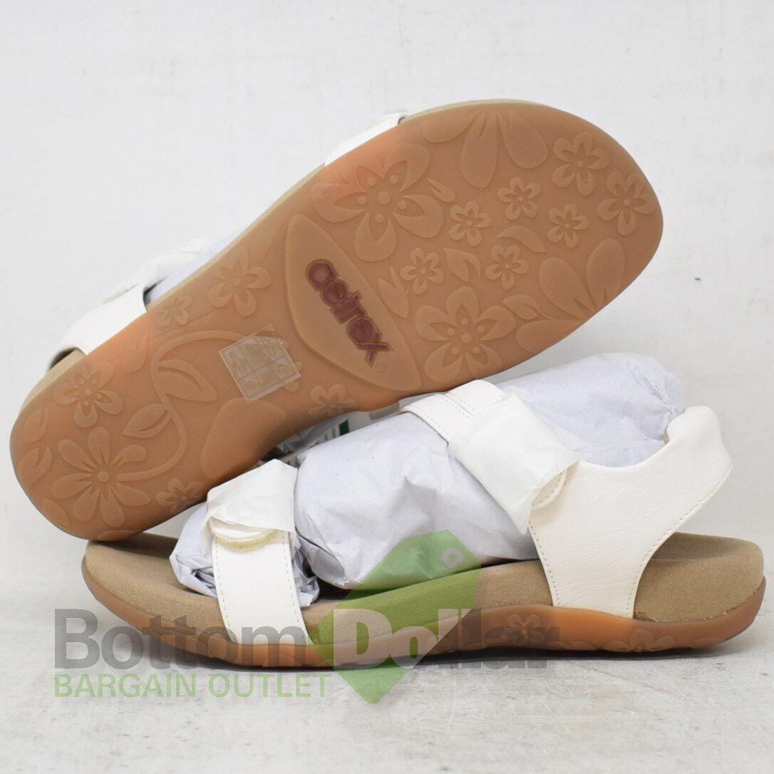 Aetrex Jean SE243W Women's White Casual Adjustable Q Strap Sandals