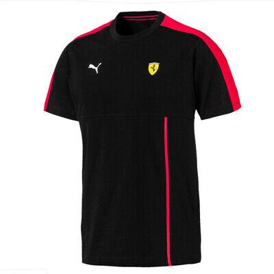 Puma Ferrari SF Mens T7 Tee Casual Fan Training T-Shirt Black 576702 02