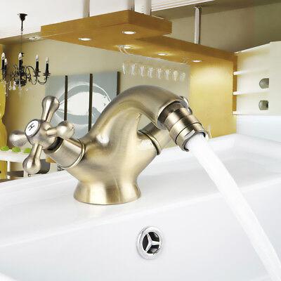 Antique Inspired Solid Brass Bidet Faucet Brass Bathroom Basin Faucet Mixer Tap Brass Bidet Bathroom Faucet