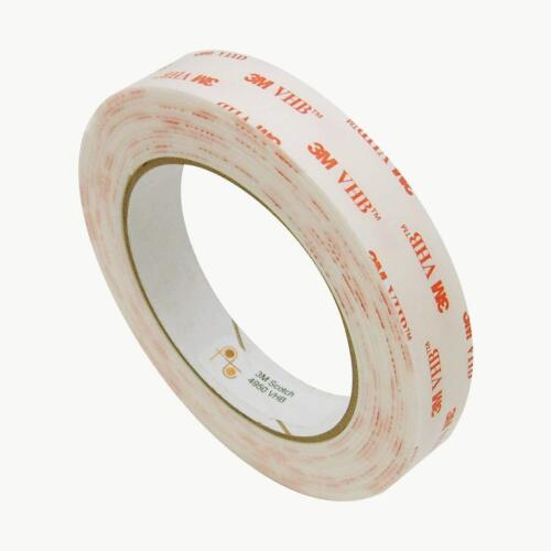 3m Vhb Double Sided Adhesive Tape 4950 White Industrial Grade 3/4 Inch X 5yd