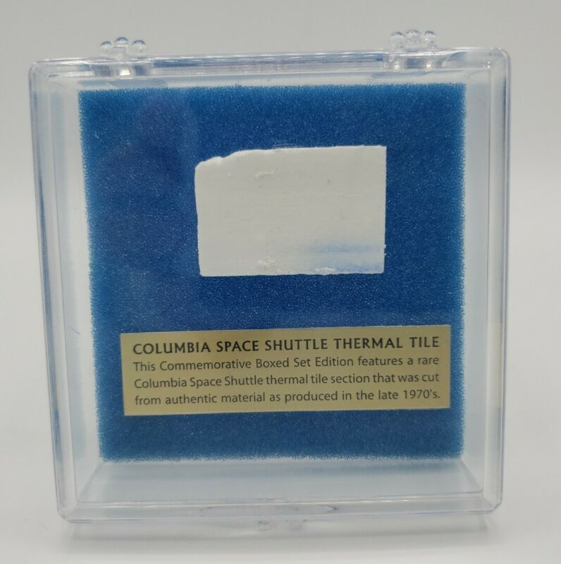 Collectible Limited Edition Space Shuttle Columbia Thermal Tile Material - NASA