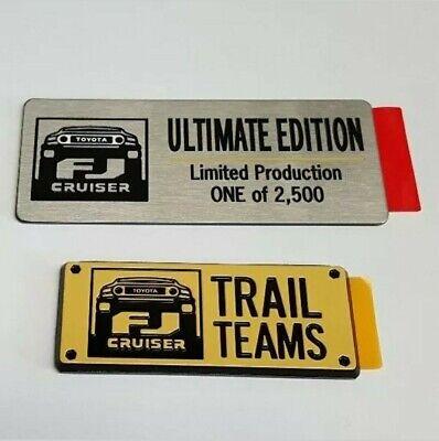Toyota FJ Cruiser Trail Teams Ultimate Edition Emblems Badge Set TRD - OEM NEW!