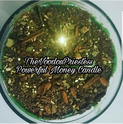 Fixed Green Money Wealth Abundance Candle Magic Spells Voodou Wicca Pagan