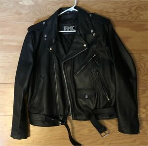 Large Biker's Leather Jacket — SIZE 44 — $150, OBO