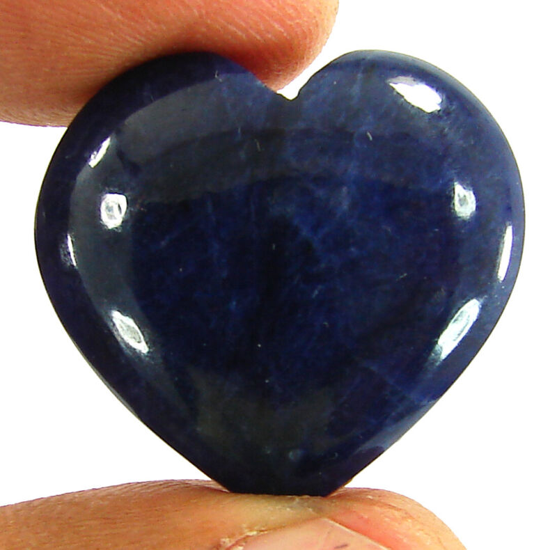 31.40 Ct Natural Blue Sodalite Loose Gemstone Heart Cabochon Wire Wrap - 44970