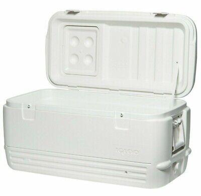 White Igloo MaxCold Quick & Cool 100 QT 95 Litre Big Large Ice Cool Box Coolers