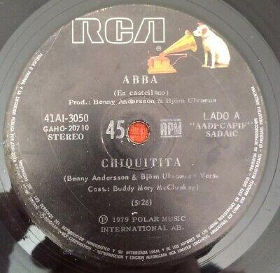 "ABBA-ARGENTINA ORIGINAL SINGLE RCA 45 RPM 7"" SPANISH SUNG 1979 VG+"