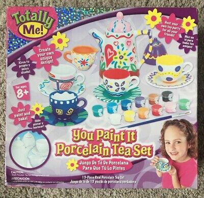 Paint Your Own (Totally Me Paint Your Own Porcelain Tea Set Easy For Child to Make & Super)