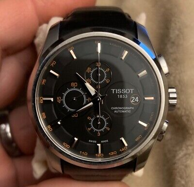 Tissot Couturier Chronograph Automatic T035.627.16.051.01 NO RESERVE Swiss