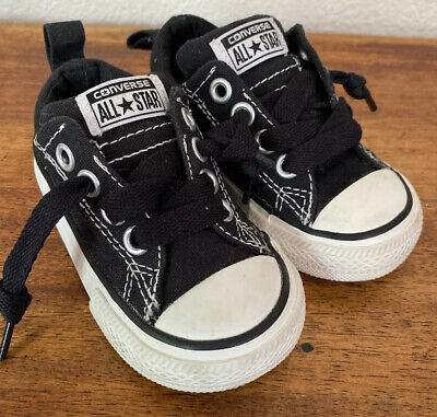 Converse Black Shoes Baby Toddler Size 5