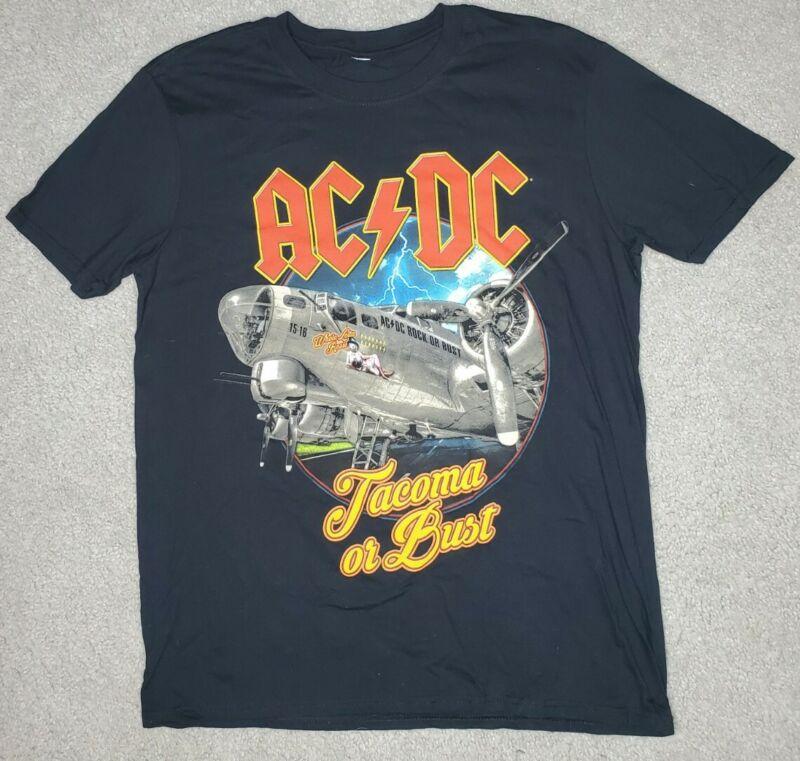 AC/DC 2016 Tacoma WA Rock or Bust Rare Concert Tour Shirt Medium Tacoma Dome