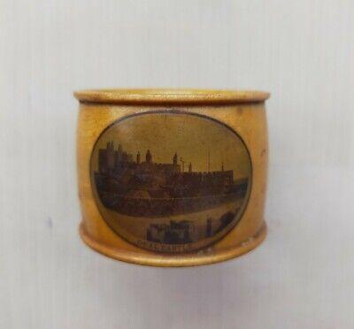Treen Mauchline Ware Napkin Holder Ring 3. Deal Castle