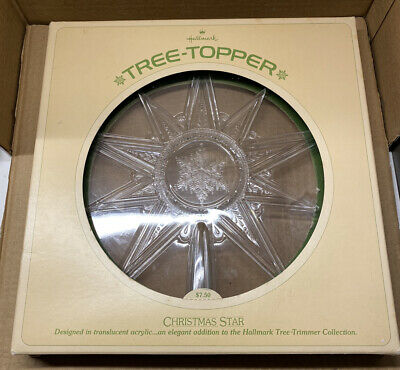 Joy! Vintage Hallmark Tree-Topper Translucent Acrylic Christmas Star