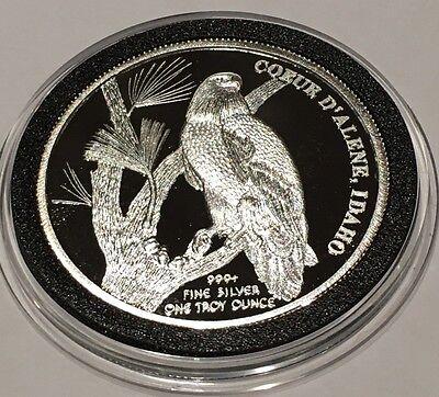 Coeur Dalene Idaho Hecla Mining Since 1891 Proof Gem 1 Troy Oz  999 Fine Silver