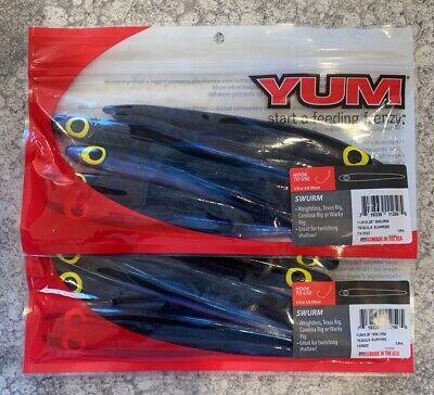 """Yum YDG5BK04-30 Dinger 5/"""" Junebug Soft Plastic Fishing Sinkbait Freshwater Lure"""