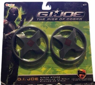 G.I. Joe The Rise of Cobra Ninja Stars Halloween Costume Accessories Snake Eyes