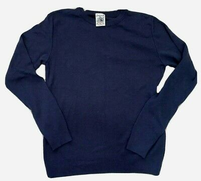 S.N.S. Herning Mens Sweater Navy Blue XL Extra Fine Merino Wool Fishermans Crew