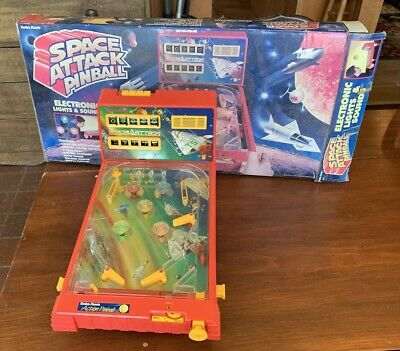 Vintage Radio Shack Space Attack Pinball w/ Original Box (60-2339)