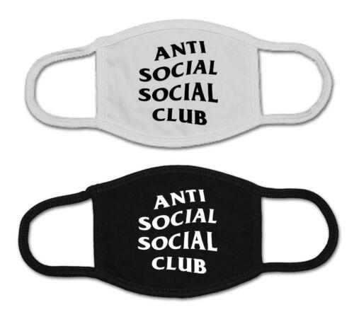 Anti Social Social Club Face Mask Adult USA made