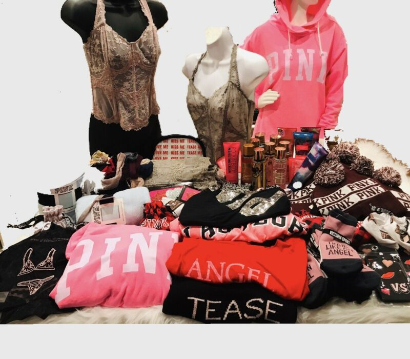 WHOLESALE VICTORIA SECRET MEGA DISCOUNT PINK RESALE $250 MSRP Mixed BIG LOT