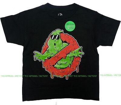 NEW Kids GHOSTBUSTERS Glow in Dark T Shirt Halloween logo melting scary children - Kids In Halloween