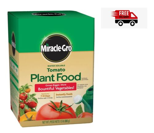 Miracle-Gro Tomato Food Plant Grow Bigger Water Soluble Vegetables Fertilizer