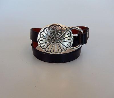 Double Wrap Around Bracelet - Bracelet Leather and Metal Double Wrap Around Concho