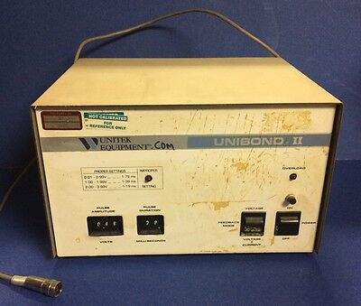 Unitek Weldmatic Unibond Ii Welding Power Supply Cat. No. Ub2 Model 1-191-01