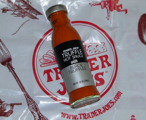 Truffle Hot Sauce With Black 10oz. Seasonal Exclusive by Trader Joe