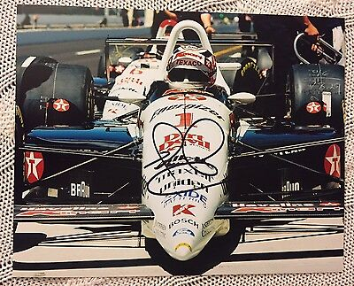 Nigel Mansell Signed Indy 500 Indianapolis 8 X 10 Photo Autographed