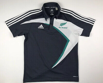 Adidas Official New Zealand All Blacks Polo Shirt Mens Small Rugby NZ