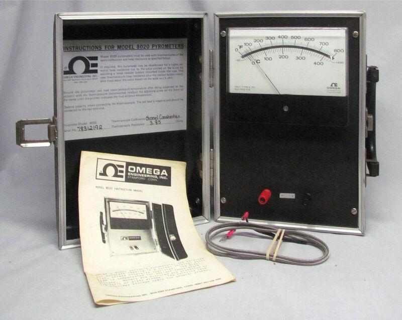 Omega Engineering 8020 Pyrometer w/Manual
