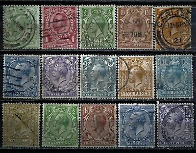 Great Britain 1904-28 KGV used (ref363)