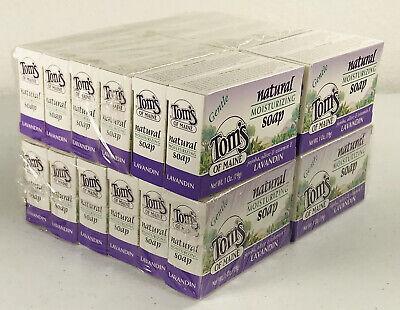 Tom's of Maine~Natural Soap~Lavandin~ Lavender~Moisturizing~Gentle~Lot of 24~ Toms Of Maine Lavender Soap