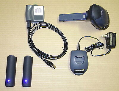 Metrologic Ms1633 Wireless Bluetooth 2d Scanner Usb Set 2 Battery Inventory