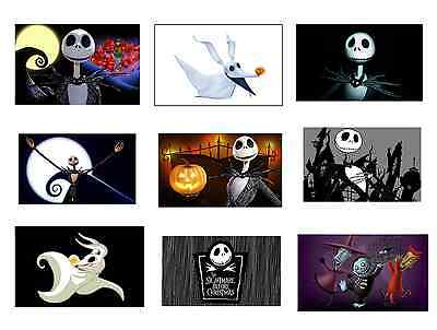 (9) The Nightmare Before Christmas Stickers,Birthday Party favors,decals,labels