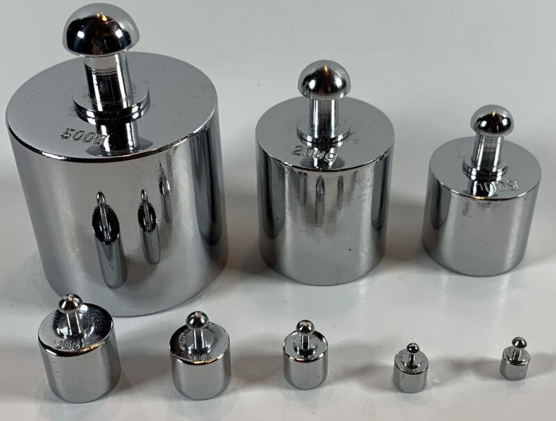 8 pcs calibration weight set 1g - 500g 838g Total Weight - Free US Shipping