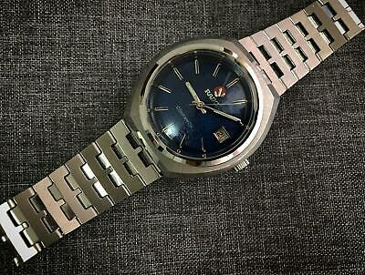 Vintage RADO Companion Blue  Automatic Gents Watch, Blue Swiss
