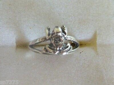 Frog toe ring genuine .925 sterling silver