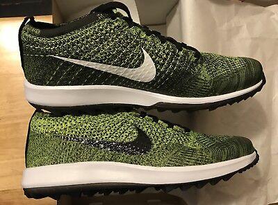 Nike Flyknit Racer G Golf Shoes Volt Men's Size 10 Brand New Nike Golf Yellow