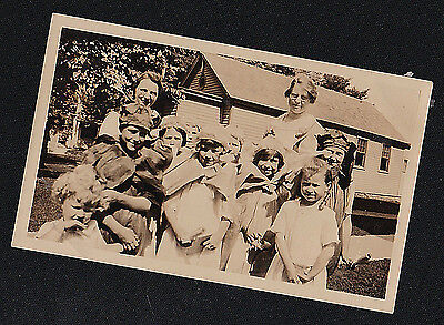 Vintage Antique Photograph Group of Children Wearing Cool Costumes - Halloween? - Kid Group Halloween Costumes