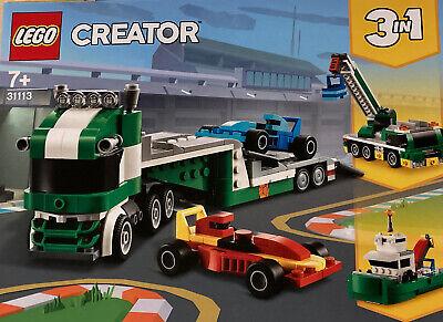 NEW LEGO CREATOR 3 IN 1 RACE CAR TRANSPORTER 31113