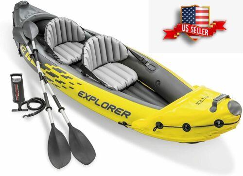 ⭐️NEW⭐️ Intex Explorer K2 Kayak 2-Person Inflatable Kayak Set w/ Aluminum Oars