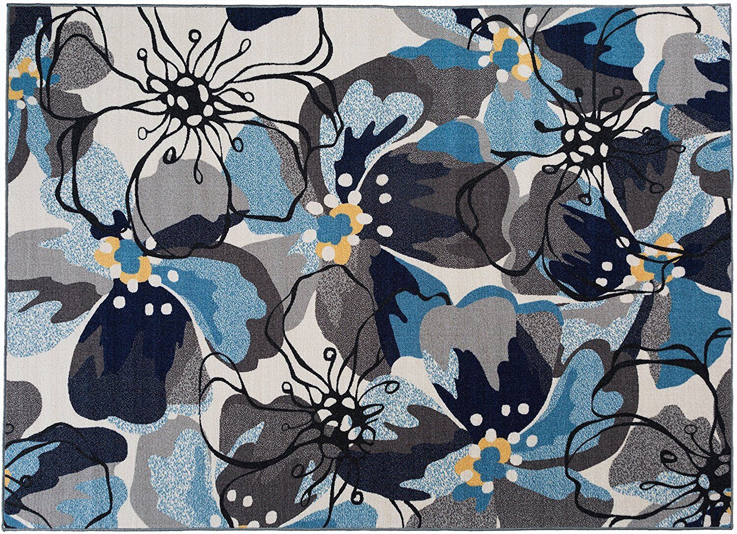 Throw Rug Floral Contemporary Small Kitchen Area Floor Mat S