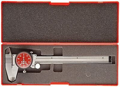 Starrett R120a-6 Dial Caliper Stainless 0-6 Range -0.001 Accuracy Red