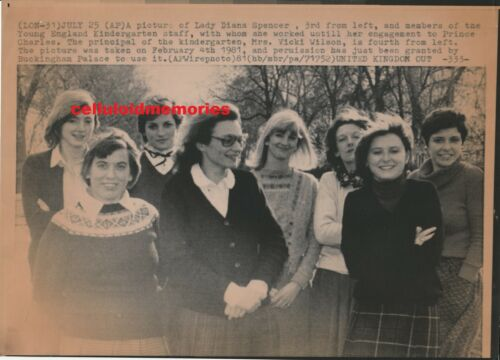 Orig Wire Press Photo Princess Diana Lady Di Spencer 2-4-81 EXTREMELY RARE!